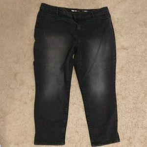 Style & Co black ankle jeans sz 18w